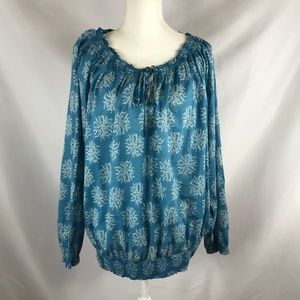 MERONA BLUE SIZE 2 LONG SLEEVE BLOUSE